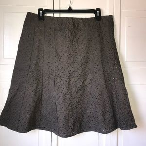 Ann Taylor Factory Gray Lined Skirt, size 12